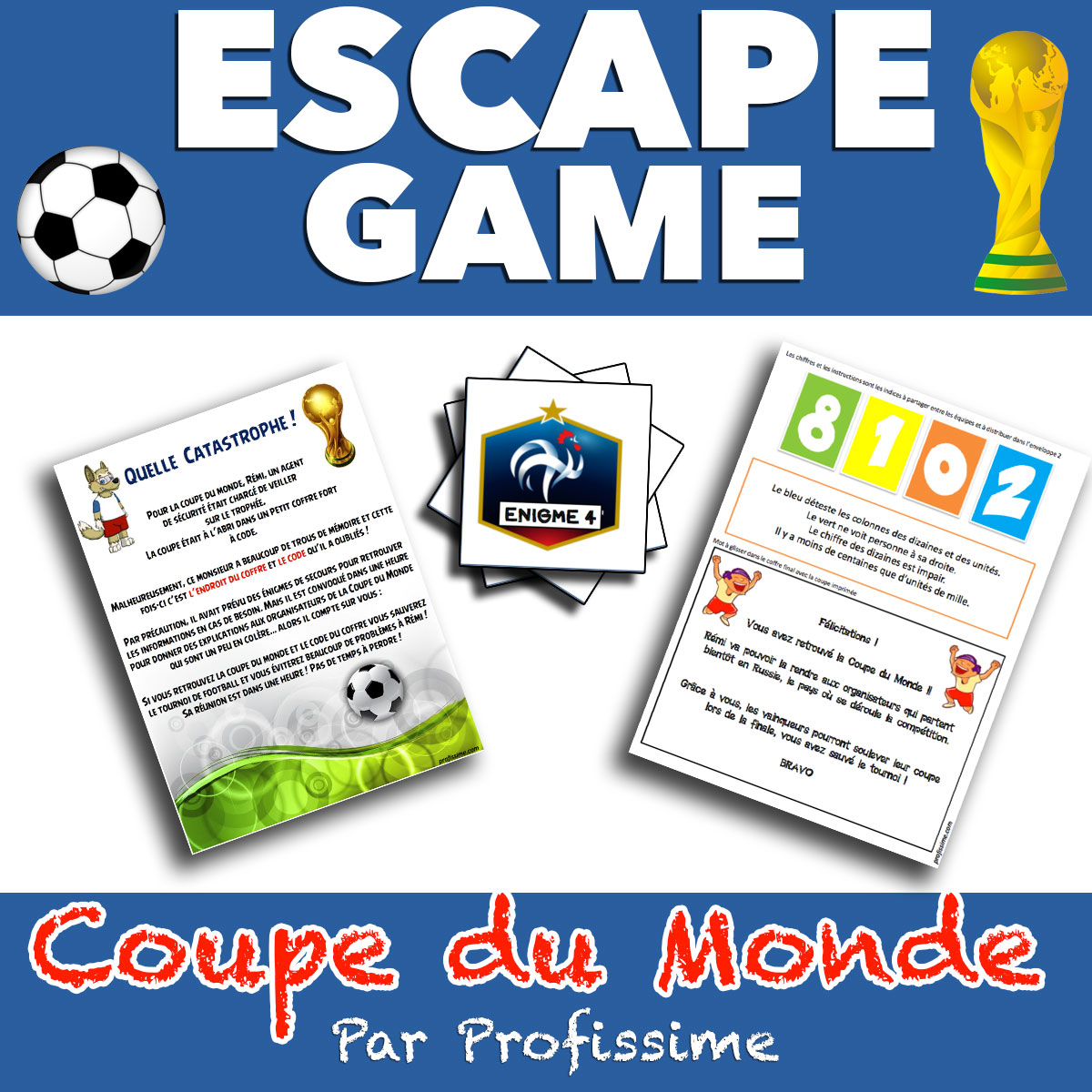 escape game coupe du monde ce2 cm1 cm2