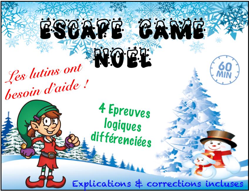 escape game ce2 cm1 cm2 jeu noel
