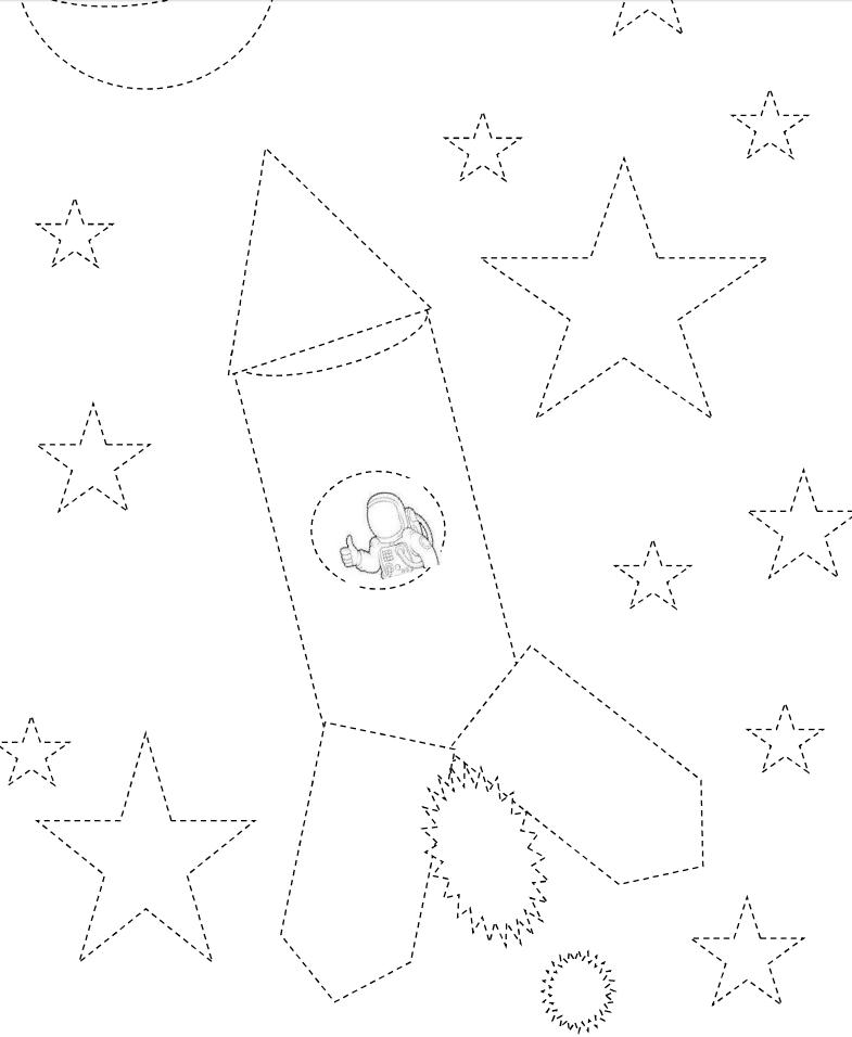 coloriage fusée