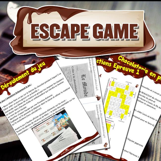 Escape Game thème chocolat