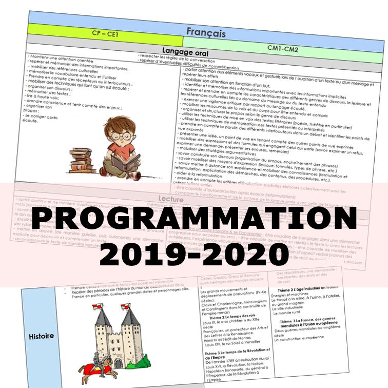 PROGRAMMATIONS 2019/2020