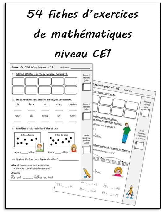 Fiches D Exercices Mathematiques Ce1 Mathematiques Ce1 La Salle Des Maitres