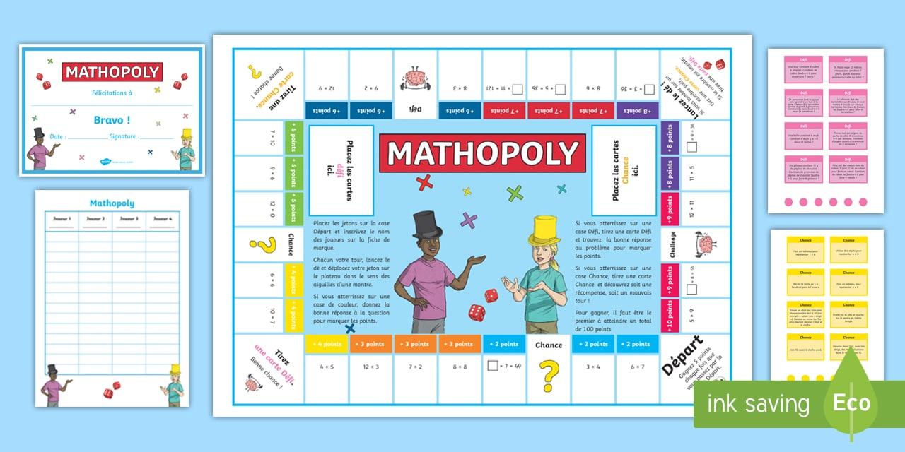 Mathopoly sur les multiplications