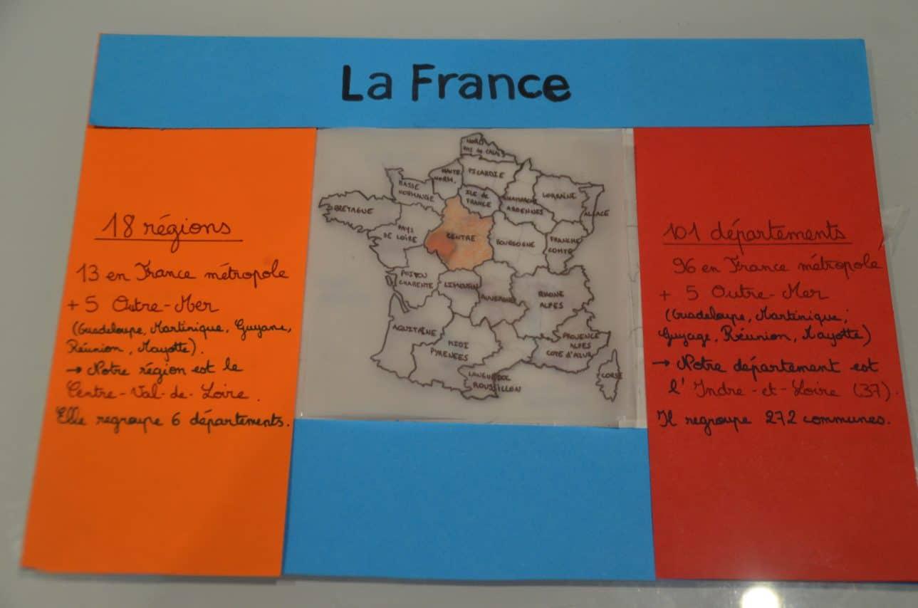 Trace écrite qui se manipule – Géographie – La France