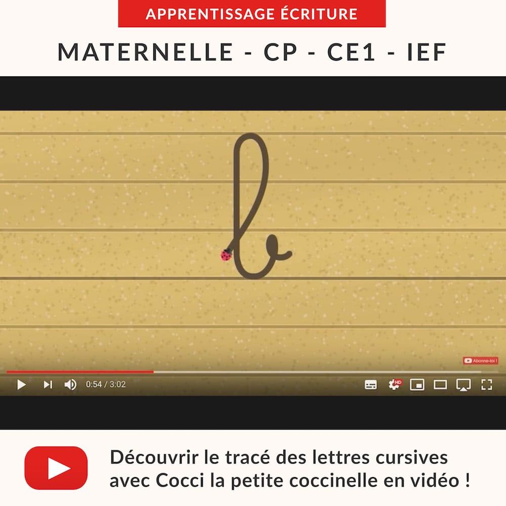 Videos Ecriture Les Lettres Cursives Minuscules Ecriture Ce1 Cp Maternelle La Salle Des Maitres