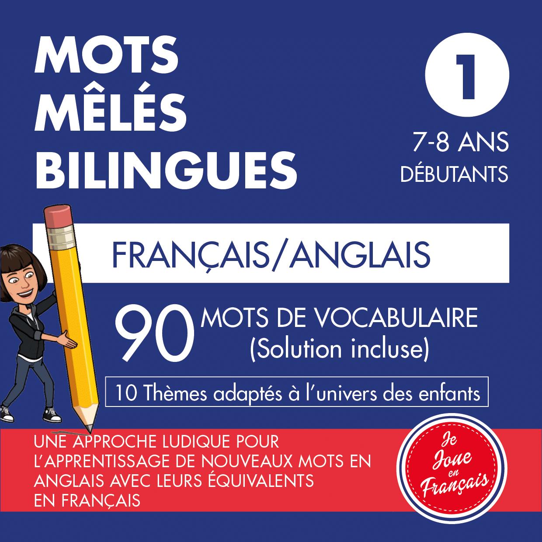 Mots Mêlés Bilingues Français – Anglais (Niveau 1)