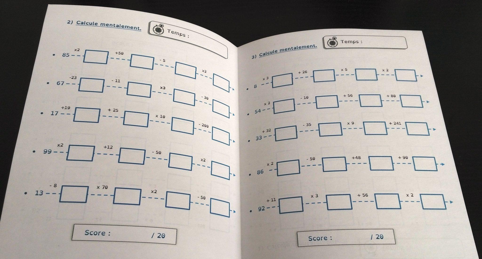 36 livrets de calcul mental (CE2 au CM2) + Tableau d'évaluation interactif