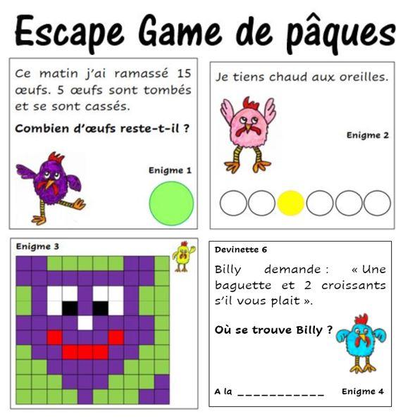 Escape game de pâques